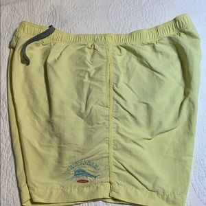 Men's Tommy Bahama yellow swim trunks